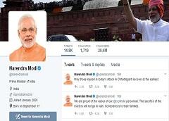 Prime Minister Narendra Modi on Twitter