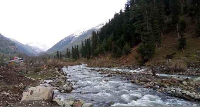 Lidder river in kashmir