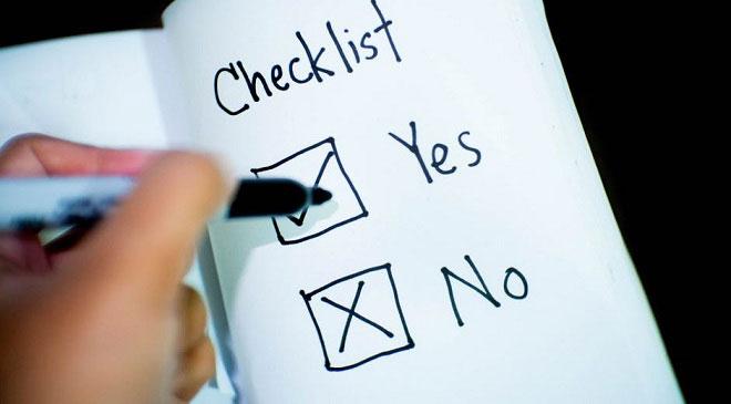 trip checklist