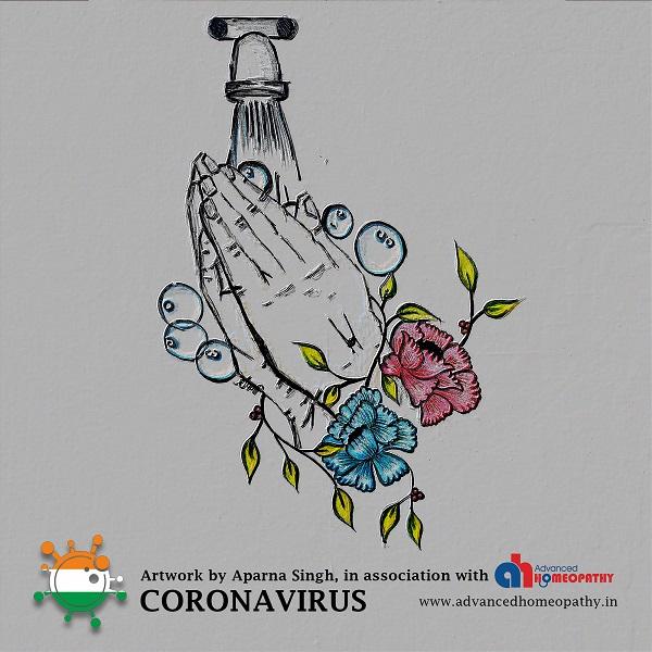 Coronavirus Handwash art