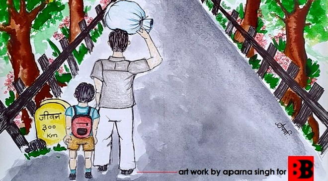 Artwork by Aparna Singh during coronavirus lockdown