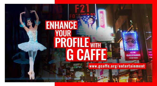 G Caffe Entertainment for stunning websites and online profile portfolio