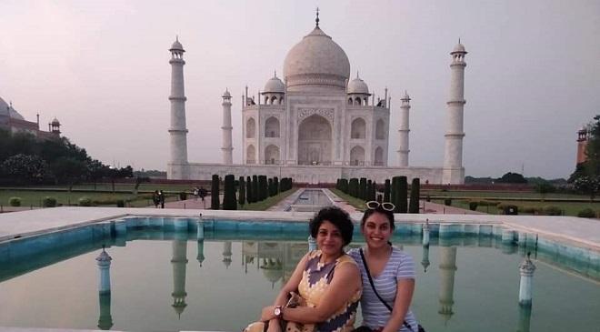 Tourists at Tajmahal, Agra, India after lockdown