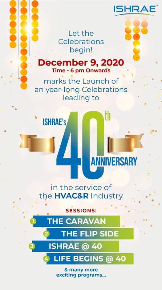 ISHRAE 40 anniversary